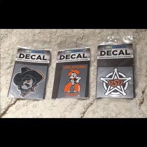 Oklahoma State Cowboys Decals-Set of 3 OSU